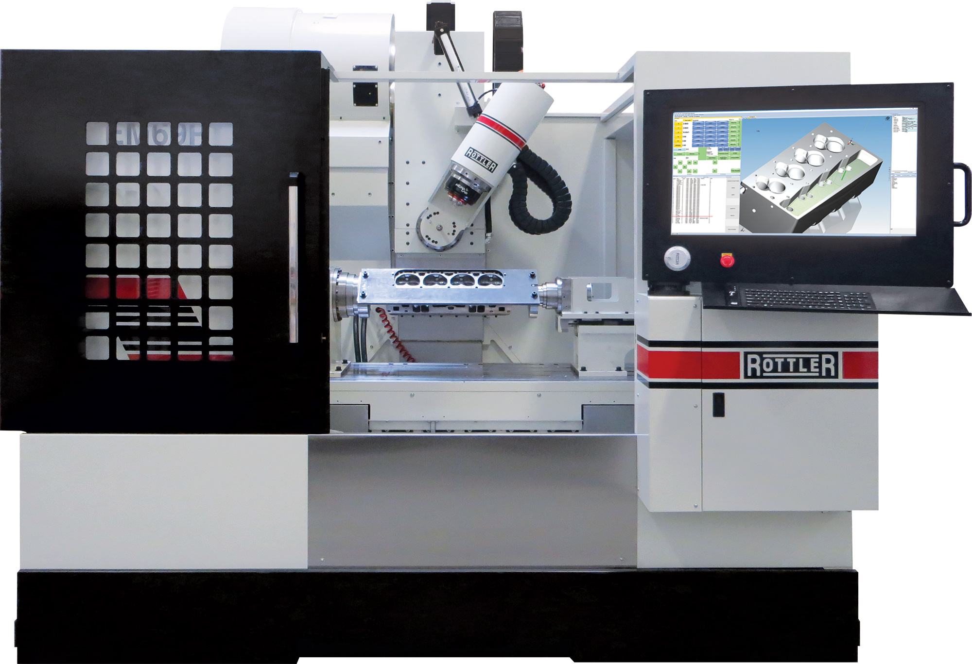 Rottler Em69p 5 Axis Cnc Porting And Machining Center