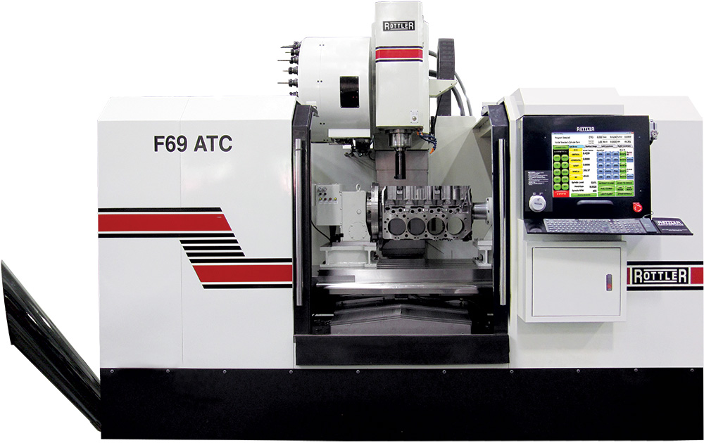 Automatic Change Machine ~ Rottler f atc cnc machining center with automatic tool