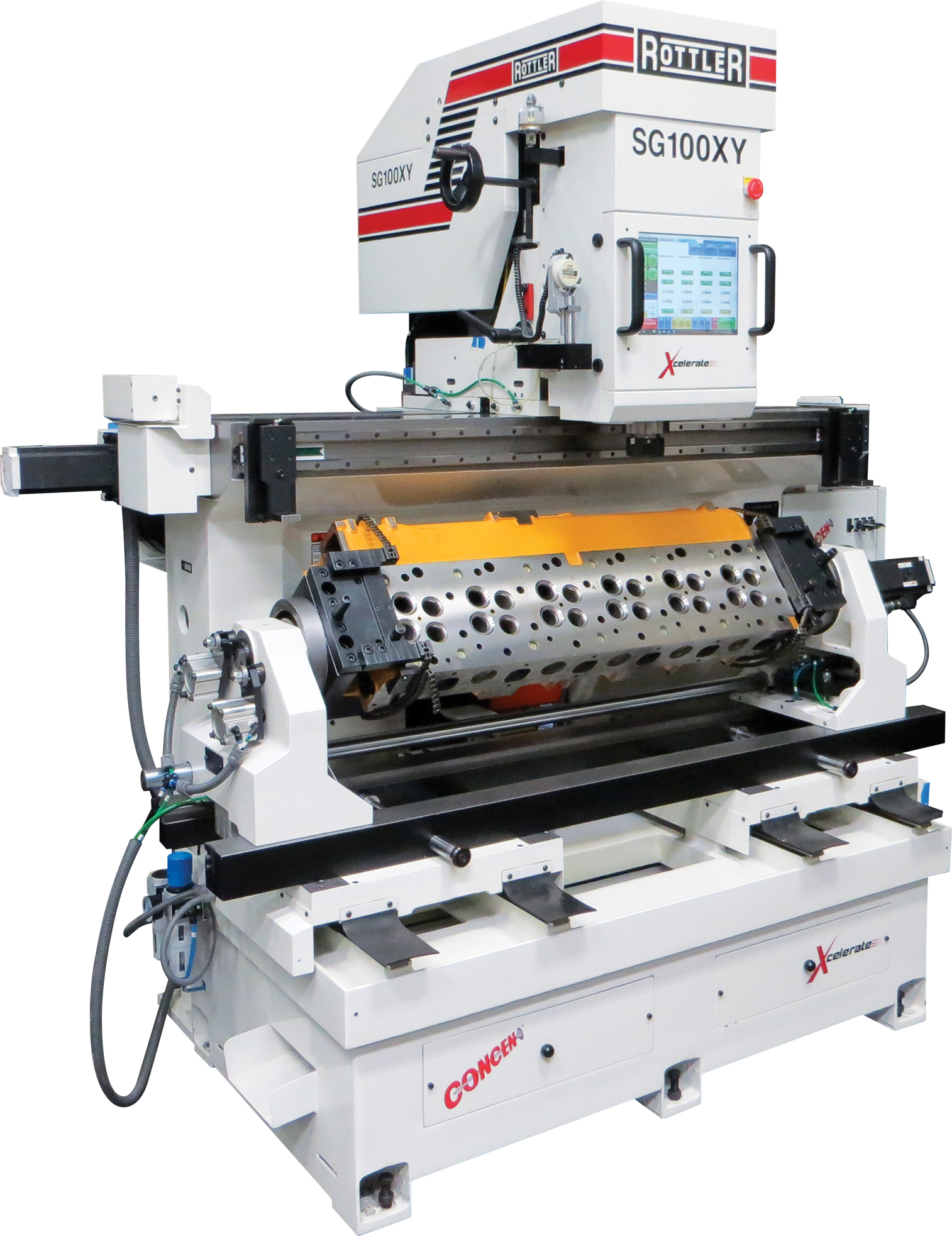 ACTIV SPINDLE Programmable Automatic Large Capacity Valve Guide-to-Guide  Cylinder Head Machining Center